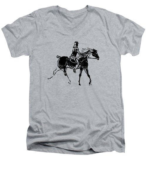 Traveler Men's V-Neck T-Shirt by Mary Armstrong