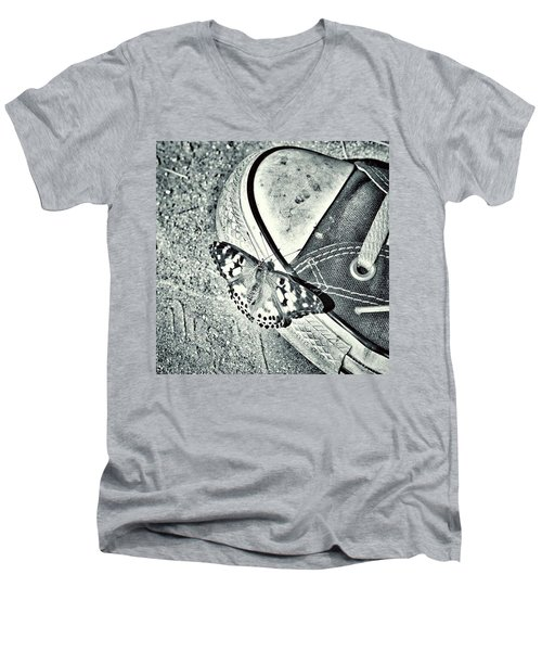 Tread Lightly  Men's V-Neck T-Shirt by Leah McPhail