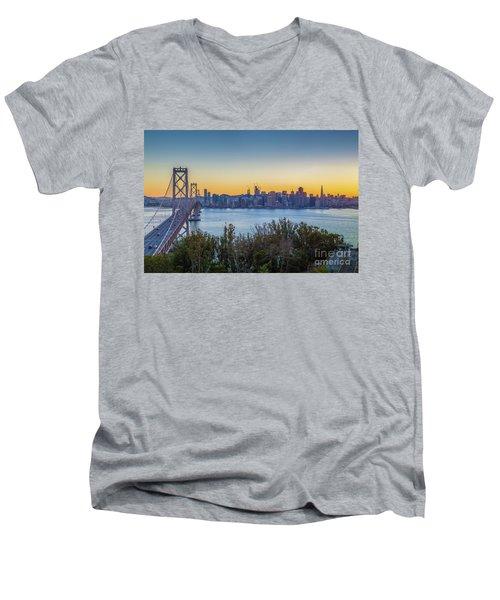 Treasure Island Sunset Men's V-Neck T-Shirt by JR Photography