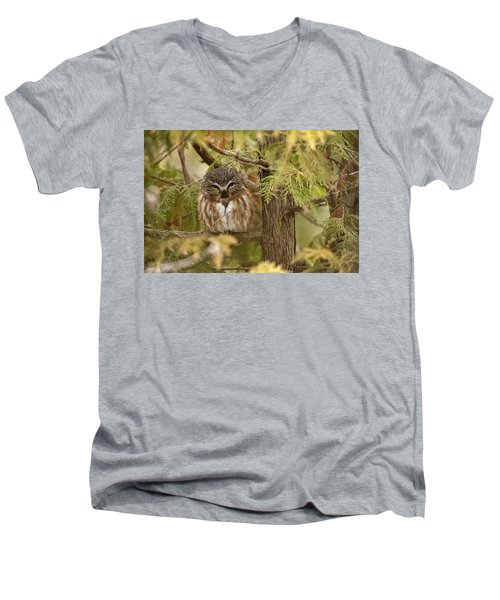 Men's V-Neck T-Shirt featuring the photograph Treasures Of The Forest by Everet Regal