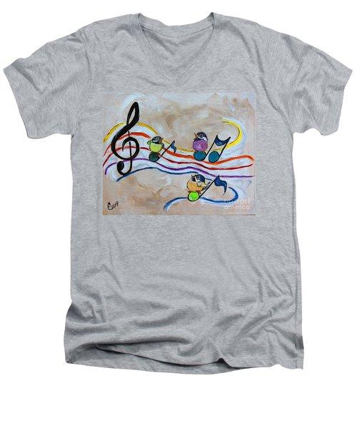 Treble Clef Trio Men's V-Neck T-Shirt