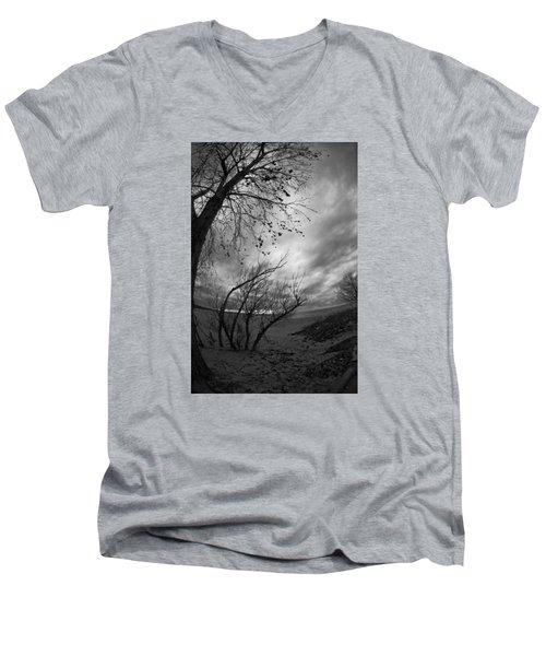 Tree 1 Men's V-Neck T-Shirt by Simone Ochrym