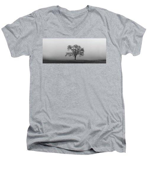 Tree Alone In The Fog Men's V-Neck T-Shirt