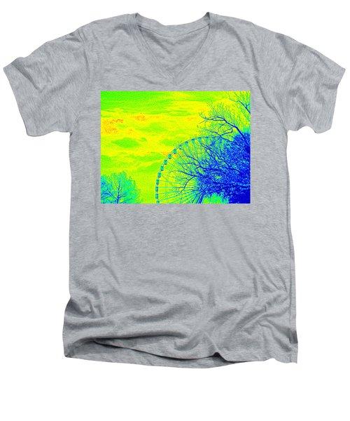 Tree And Ferris Wheel  Men's V-Neck T-Shirt