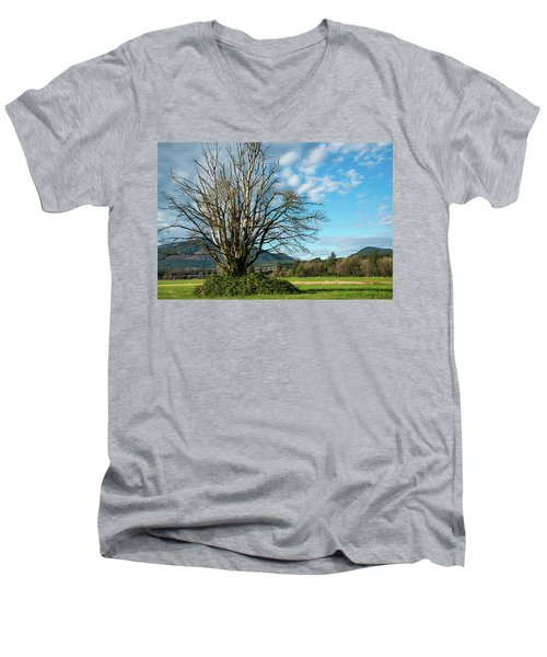 Tree And Sky Men's V-Neck T-Shirt