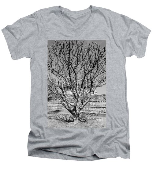 Tree And Temple Men's V-Neck T-Shirt