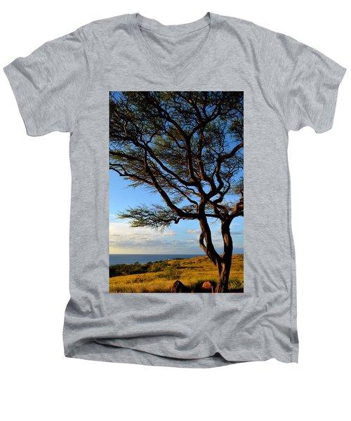 Tree At Lapakahi State Historical Park Men's V-Neck T-Shirt
