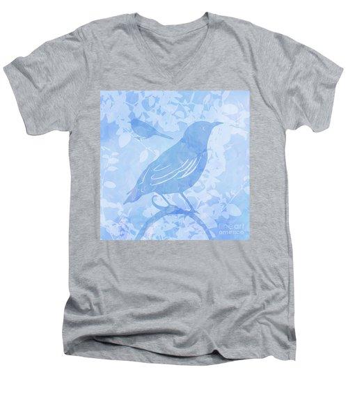 Tree Birds II Men's V-Neck T-Shirt