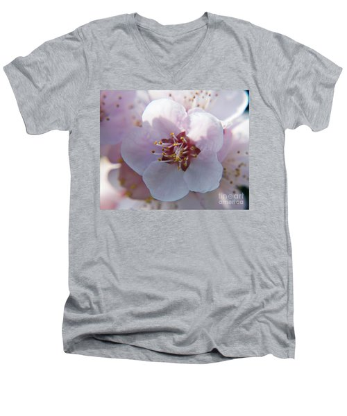 Men's V-Neck T-Shirt featuring the photograph Tree Blossoms by Elvira Ladocki