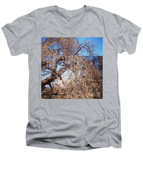 Tree Bow And Dance Men's V-Neck T-Shirt by Nora Boghossian