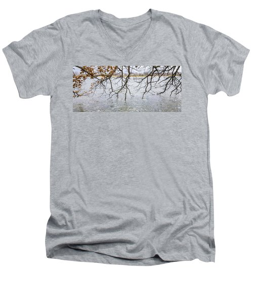 Tree Branches Over Lake Men's V-Neck T-Shirt