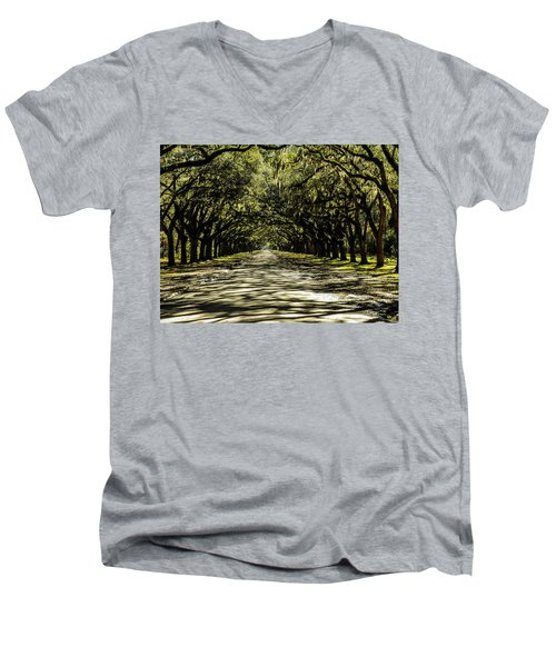 Tree Covered Approach Men's V-Neck T-Shirt
