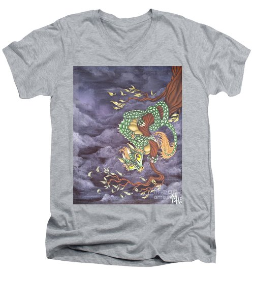 Tree Dragon Men's V-Neck T-Shirt