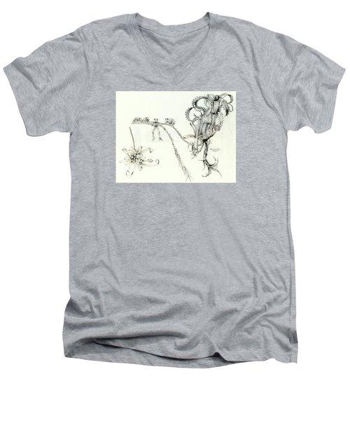 Tree Frog Hangout Men's V-Neck T-Shirt