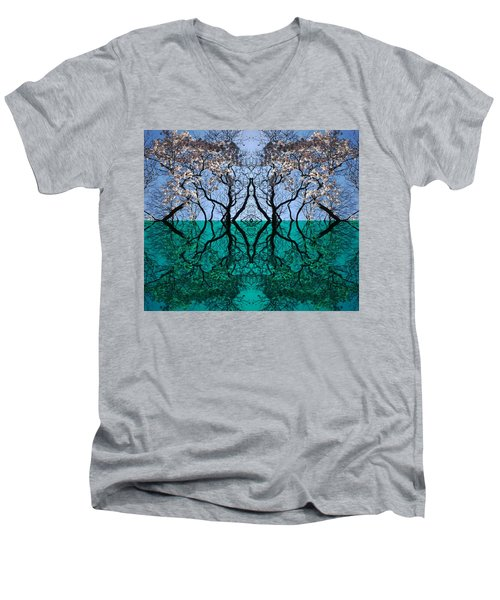 Tree Gate Between Water And Sky Worlds Men's V-Neck T-Shirt