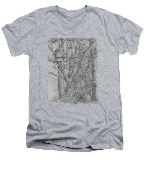 Tree House #3 Men's V-Neck T-Shirt