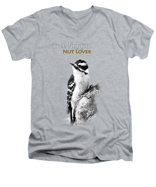 Tree Huggin' Nut Lover Men's V-Neck T-Shirt