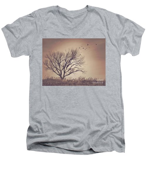 Men's V-Neck T-Shirt featuring the photograph Tree by Juli Scalzi