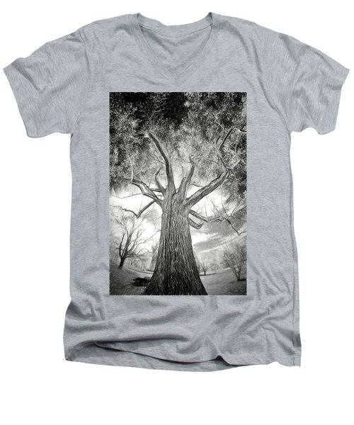 Tree Monster Bw Ap Men's V-Neck T-Shirt