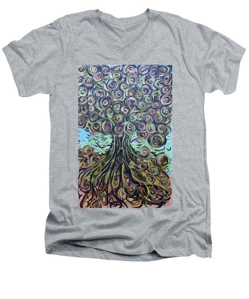 Tree Of Life- Fall Men's V-Neck T-Shirt