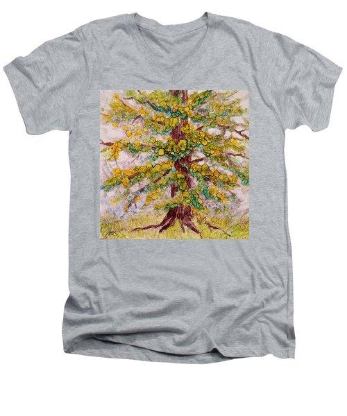 Tree Of Life Men's V-Neck T-Shirt by Joanne Smoley