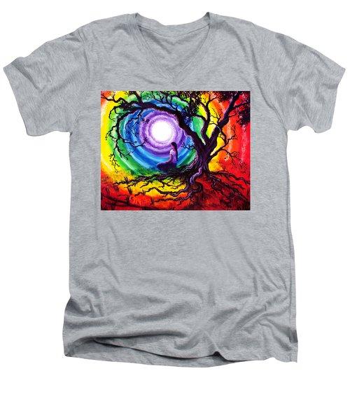 Tree Of Life Meditation Men's V-Neck T-Shirt