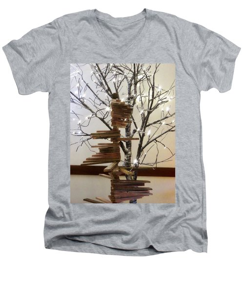 Tree Of Lights Men's V-Neck T-Shirt