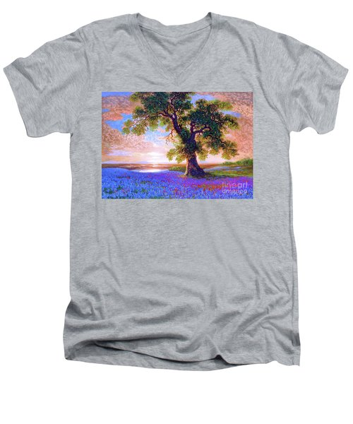 Tree Of Tranquillity Men's V-Neck T-Shirt