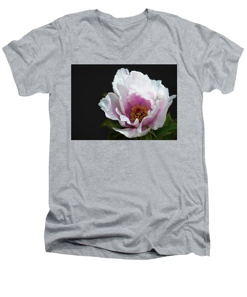 Tree Paeony I Men's V-Neck T-Shirt