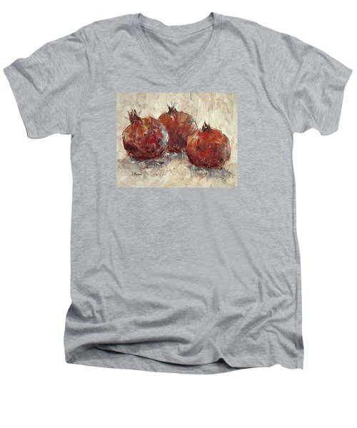 Three Pomegranates Men's V-Neck T-Shirt