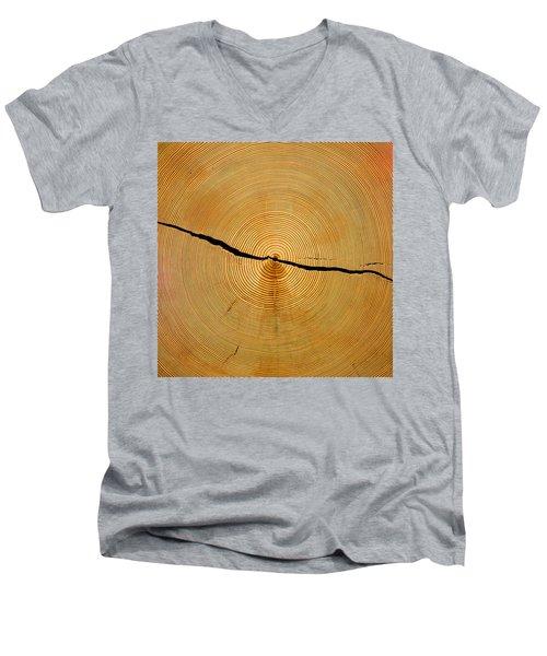 Tree Rings Men's V-Neck T-Shirt by Steven Ralser