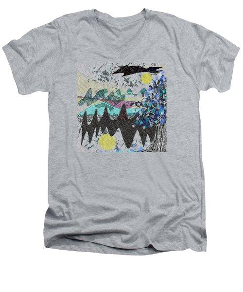 Tree Serene Men's V-Neck T-Shirt