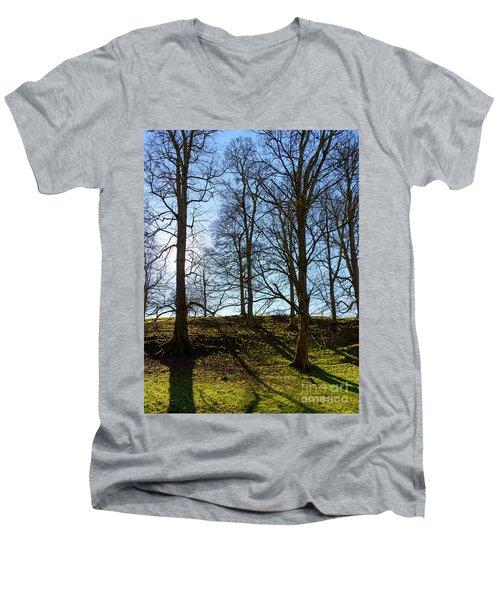 Tree Silhouettes Men's V-Neck T-Shirt