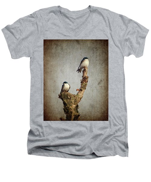 Tree Swallows Men's V-Neck T-Shirt