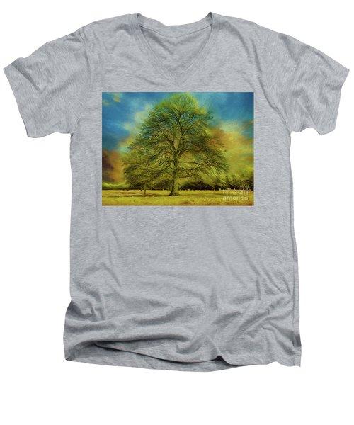 Tree Three Men's V-Neck T-Shirt