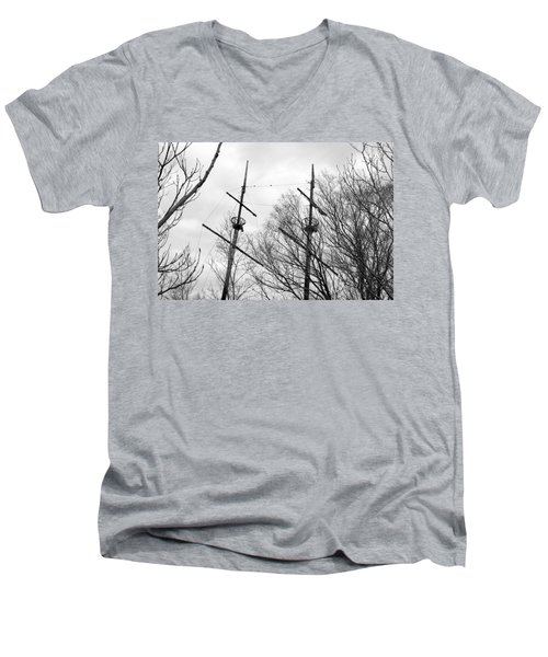 Men's V-Neck T-Shirt featuring the photograph Tree Types by Valentino Visentini