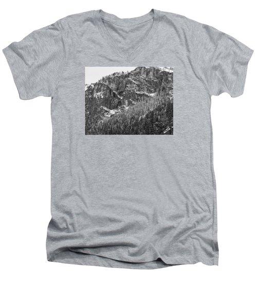 Men's V-Neck T-Shirt featuring the photograph Treefall by Lora Lee Chapman