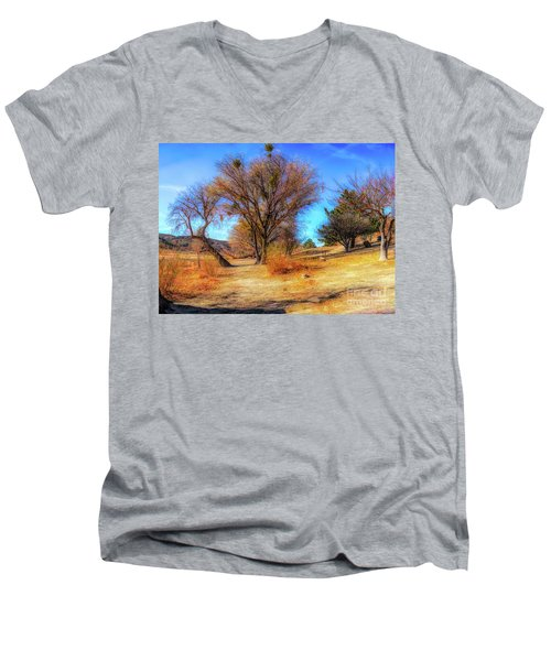 Trees Along Elizabeth Lake Men's V-Neck T-Shirt