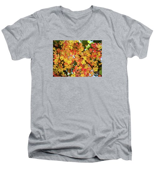 Trees And Flowers In Hawaii Men's V-Neck T-Shirt