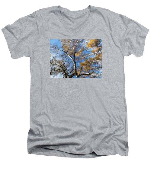 Trees Grow To The Sky Men's V-Neck T-Shirt by Odon Czintos