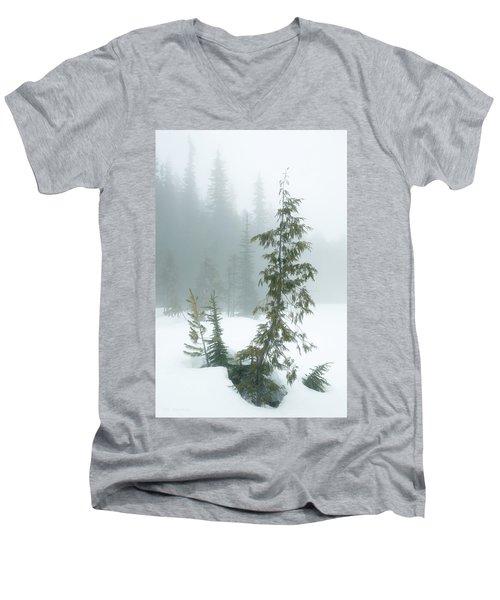 Trees In Fog Men's V-Neck T-Shirt