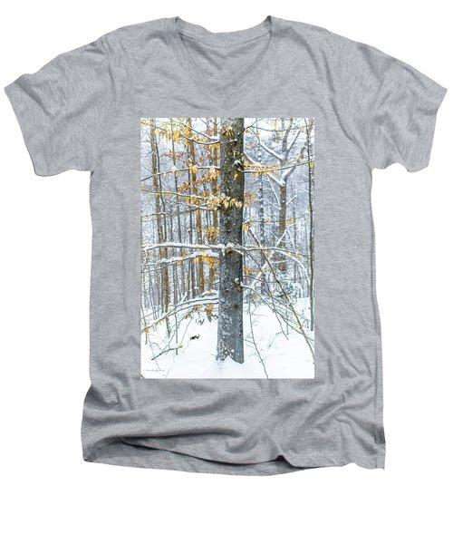 Trees In Snow Men's V-Neck T-Shirt