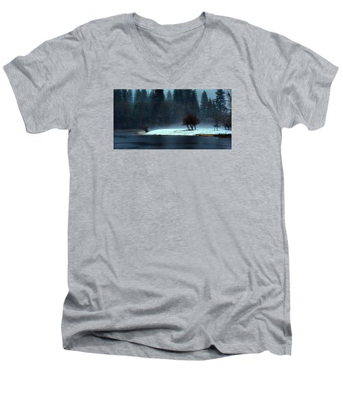 Trees On Point Men's V-Neck T-Shirt by Josephine Buschman