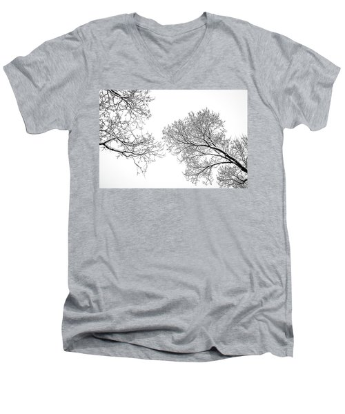 Men's V-Neck T-Shirt featuring the photograph Trees Reaching by Marilyn Hunt