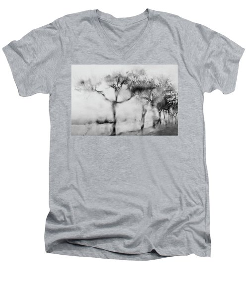 Trees Through The Window Men's V-Neck T-Shirt by Celso Bressan