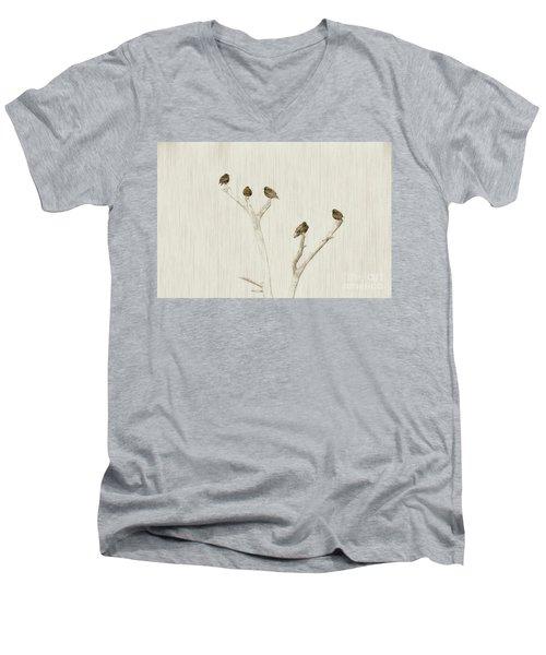 Treetop Starlings Men's V-Neck T-Shirt