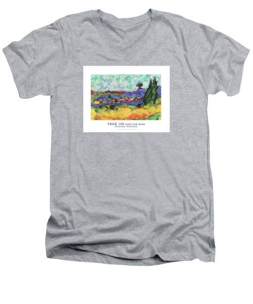 Trek 100 Poster Men's V-Neck T-Shirt