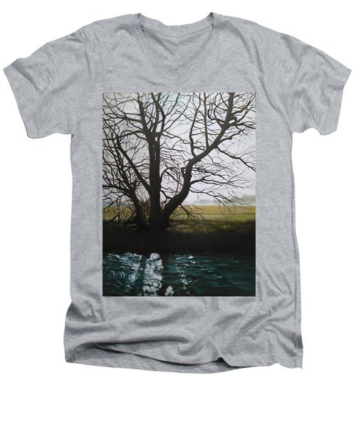 Trent Side Tree. Men's V-Neck T-Shirt