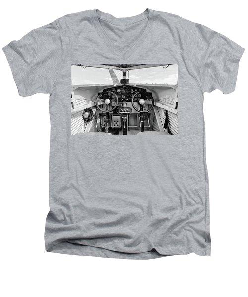 Tri-motor Cockpit - 2017 Christopher Buff, Www.aviationbuff.com Men's V-Neck T-Shirt