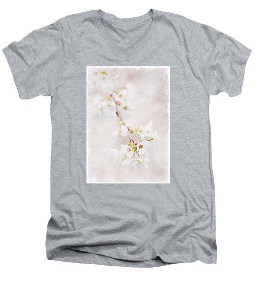 Triadelphia Cherry Blossoms Men's V-Neck T-Shirt